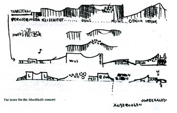 Score for the Hamburg Musichalle Concert, 1971